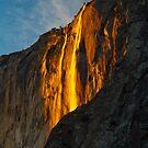 Yosemite Horsetail Falls Feb 2016 by photosbyflood