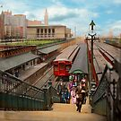 City - Chicago - The Van Buren Street Station 1907 by Michael Savad