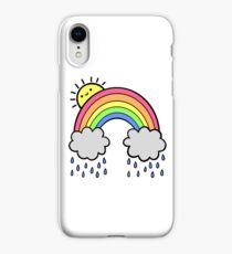 Regenbogen über den Wolken iPhone-Hülle & Cover