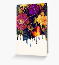 Dripping Floral Bouquet Greeting Card