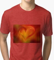 Flaming Heart  Tri-blend T-Shirt