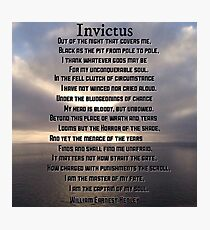 Invictus William Henley Photographic Print