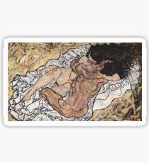 """Egon Schiele """"Pair embrassant"""", 1917 Sticker"""