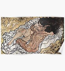 "Egon Schiele ""Pair embracing"", 1917 Poster"