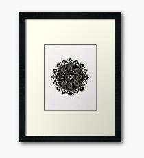 Love Emotion Mandala Framed Print