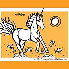 Goldfish Uniquorn - #inktober 2017 unicorn illustration by mellierosetest