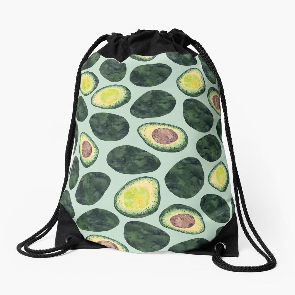 Avocado Addict Drawstring Bag