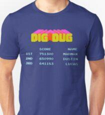 stranger things 2 digdug dig dug mad max dustin lucas T-Shirt