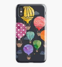 Hot Air Balloon Night iPhone Case