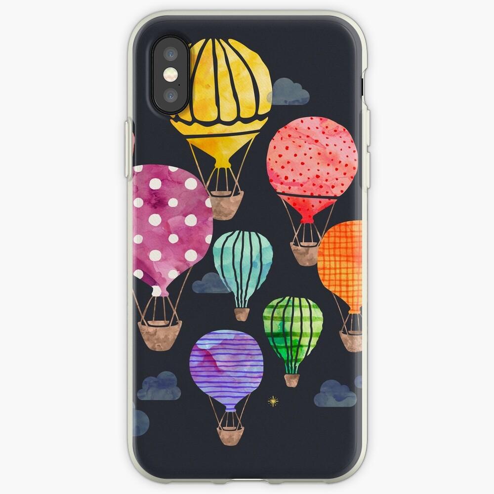 Heißluftballon Nacht iPhone-Hüllen & Cover