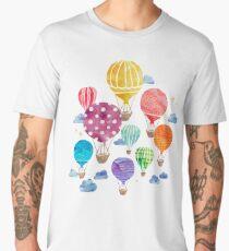 Hot Air Balloon Night Men's Premium T-Shirt