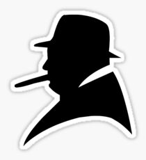 the shadow churchill Sticker