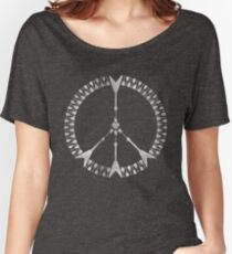 peace love rock'n'roll | white ink edition Women's Relaxed Fit T-Shirt