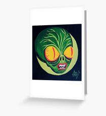Space Guy Greeting Card