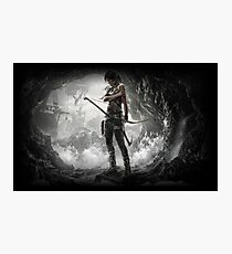 lara croft - America in general and the problems of the teachers  Photographic Print