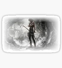 lara croft - America in general and the problems of the teachers  Sticker