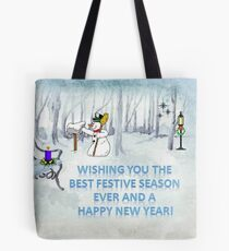 Wishing you the Best Festive Season ever! Tote Bag