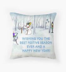 Wishing you the Best Festive Season ever! Throw Pillow