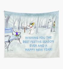 Wishing you the Best Festive Season ever! Wall Tapestry