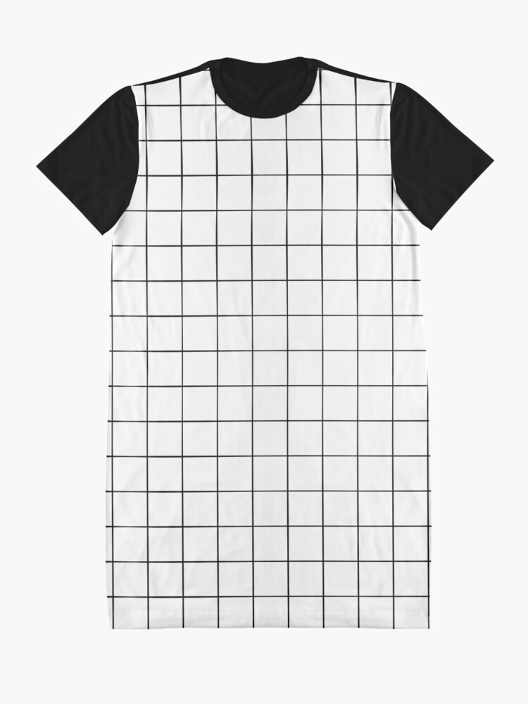 Alternate view of White Grid Graphic T-Shirt Dress