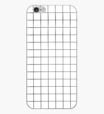 White Grid iPhone Case