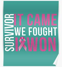 Cancer Survivor design Poster