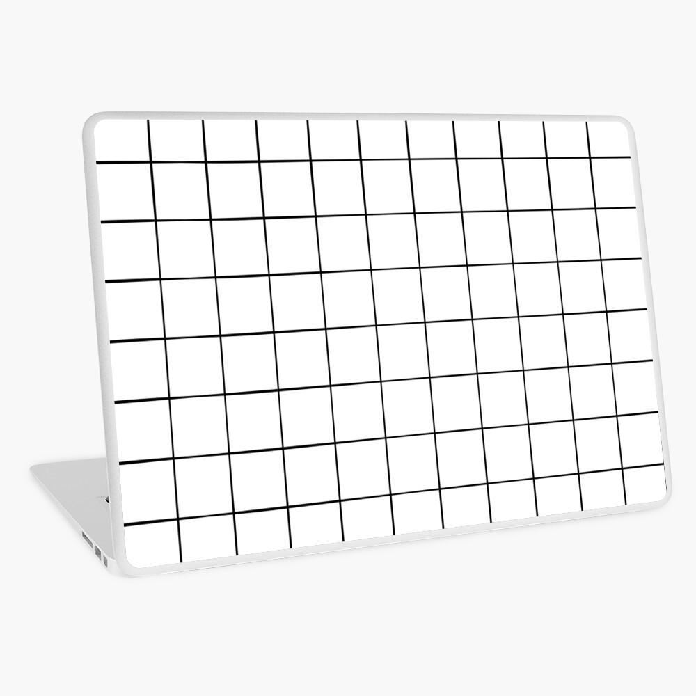 White Grid Laptop Skin