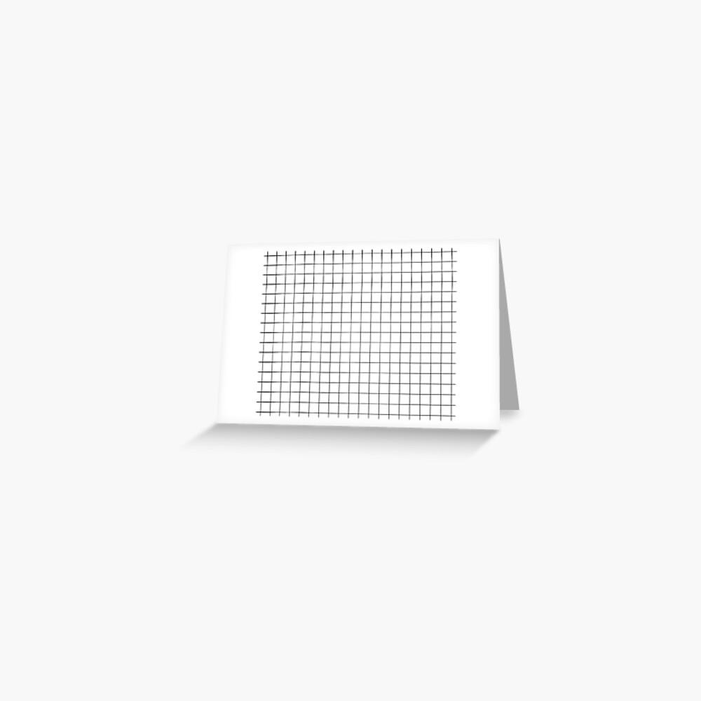 White Grid Greeting Card