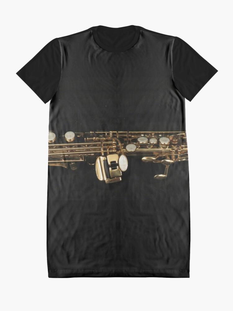 Alternative Ansicht von Soprano Sax - Side View T-Shirt Kleid