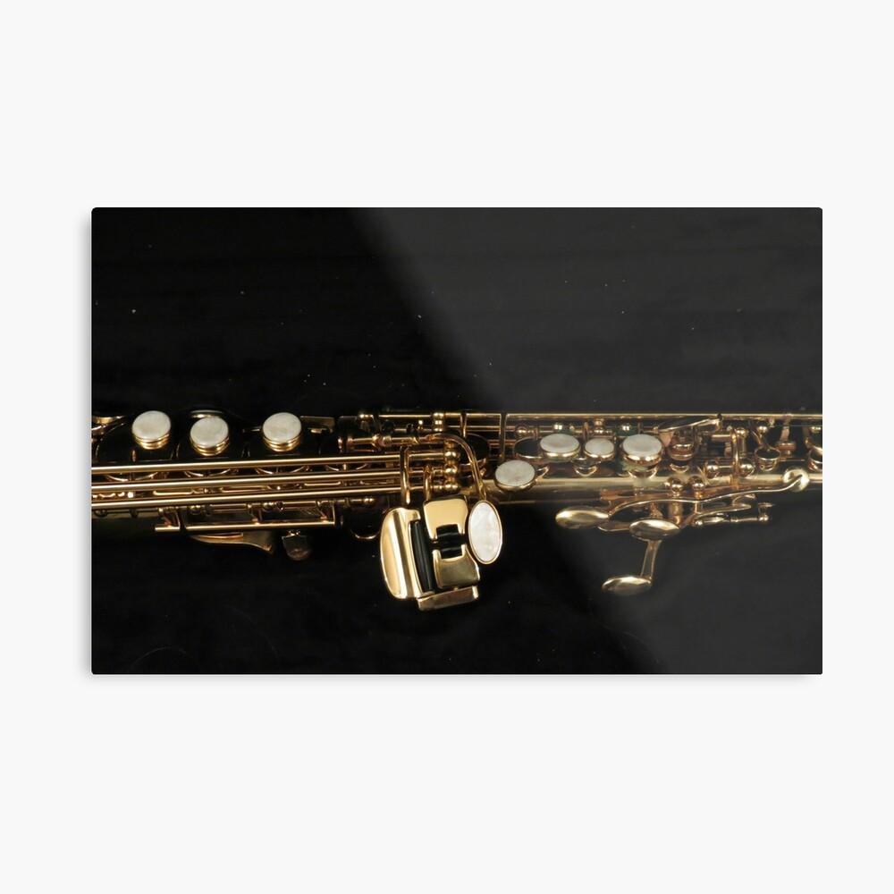 Soprano Sax - Side View Metallbild