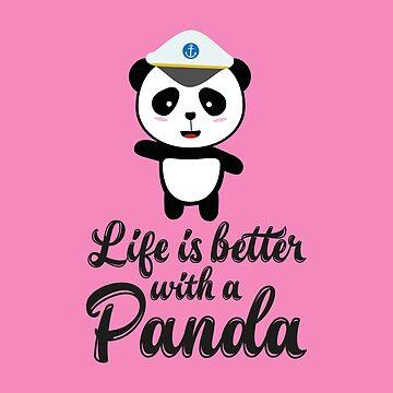 Panda Captain life is better travel-Design by ilovecotton