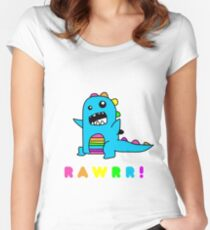 - Dinosaur! xo Women's Fitted Scoop T-Shirt