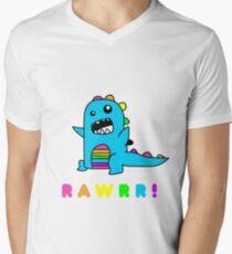 - Dinosaur! xo Men's V-Neck T-Shirt