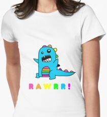 - Dinosaur! xo Women's Fitted T-Shirt
