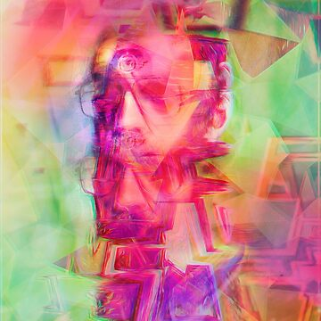 Trippy Psychedelic Abstract Guy by psychastro