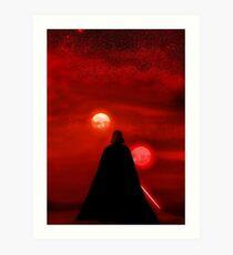 Star Wars Darth Vader Tatooine Sunset  Art Print