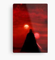 Star Wars Darth Vader Tatooine Sunset  Metal Print