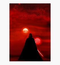 Star Wars Darth Vader Tatooine Sunset  Photographic Print