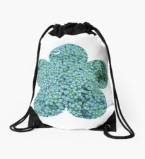 Green Broccoli Florets Drawstring Bag