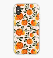 Sonnige Orange iPhone-Hülle & Cover