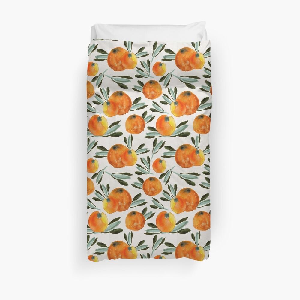 Sonnige Orange Bettbezug
