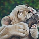 White lion cub by mbillustrations