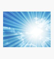 Sky and shining sunlight Photographic Print