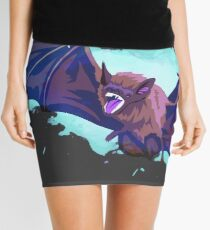 Vampire Bat Ghost Mini Skirt