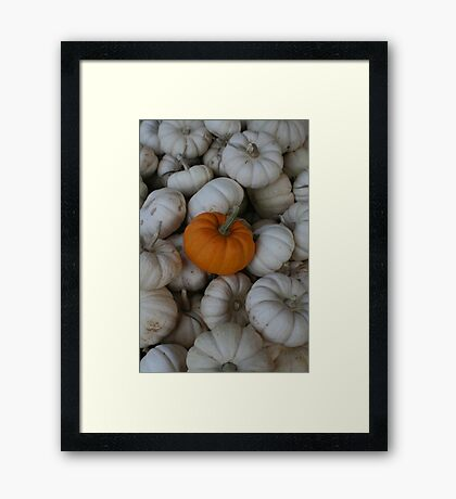 STANDING OUT IN THE CROWD Framed Print