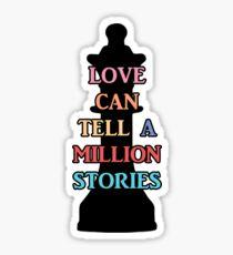 Chess Piece & Love | Falsettos Sticker