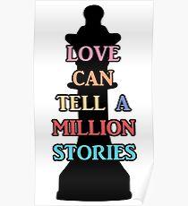 Chess Piece & Love   Falsettos Poster
