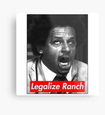 Eric Andre - Legalize Ranch - Red Metal Print