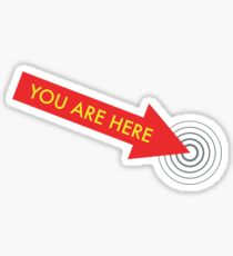 You are here. [Red] Sticker