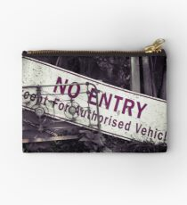 No Entry Sign Studio Pouch